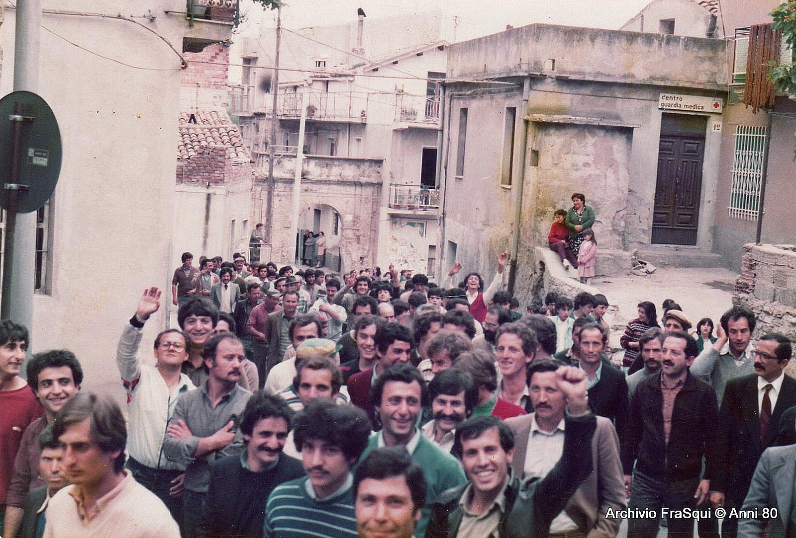 Manifestazioni dei forestali negli anni 80